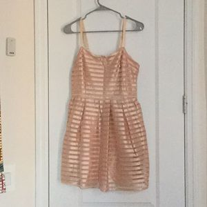Metallic Pink Striped Dress
